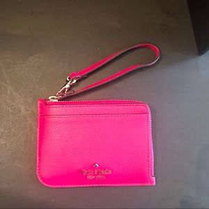 ♠️Jackson small card holder wristlet, magenta, NWT